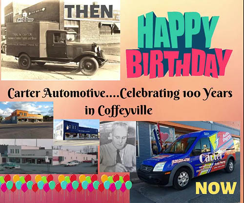 Carter Automotive Celebrating 100 Years in Coffeyville