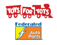 Federated Auto Parts and Toys for Tots Logos